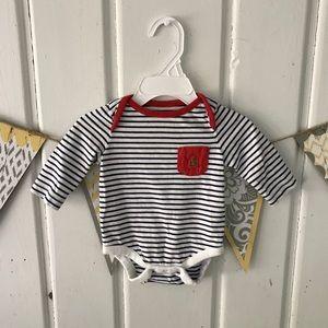 Baby Gap Navy & White Stripe Long Sleeve Bodysuit